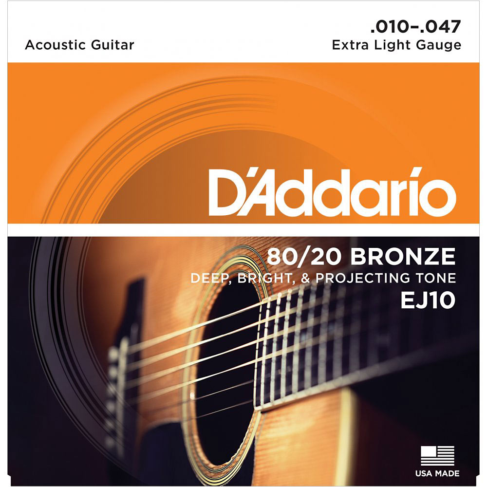 D'addario EJ10 Acoustic Guitar Strings