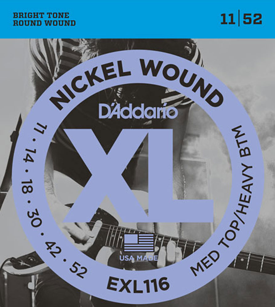 D'addario EX116 Nickel Electric Guitar Strings