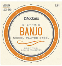 D'addario EJ61 5 string Banjo Strings, M
