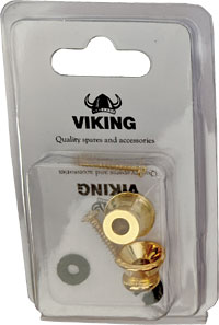 Viking GSB-10G Gold Colour Strap Buttons, Pair