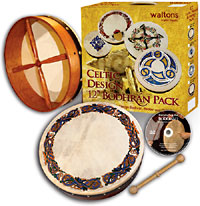 Waltons 12inch Bodhran, Celtic Animals