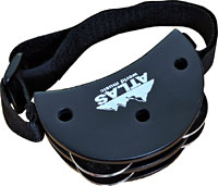 Atlas AP-10K Foot Tambourine, 4 Jingle Pairs