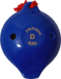 Polyoc 6 Hole Ocarina, Blue