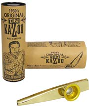 Clarke MKGD Gold Colour Metal Kazoo, Single