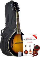 Ashbury AM-10 Pack A Style Mandolin, S/B Pack