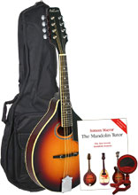 Ashbury AM-50N Pack A Style Mandolin, TOSB Pack