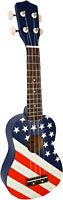 Blue Moon BU-06 USA Flag Design Soprano Uke