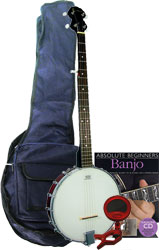 Blue Moon BJ-10 Pack Openback 5 String Banjo Pack