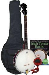 Blue Moon BJ-10T Pack Openback Tenor Banjo Pack
