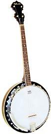 Ashbury AB-35 Tenor Banjo, 19 Fret, Mahogany