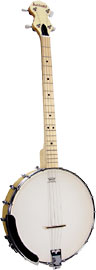 Ashbury AB-25 Openback Tenor Banjo, Maple Rim