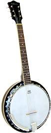 Ashbury AB-35 6 String Guitar Banjo, Mahogany