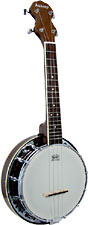 Ashbury AB-34 Ukulele Banjo, Resonator, Walnut