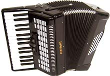Scarlatti Piano Accordion, 48 Bass.Black
