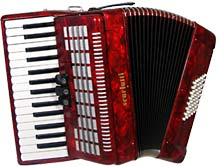 Scarlatti Piano Accordion, 48 Bass. Red