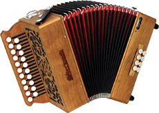Sherwood Shire II G/C Melodeon, Cagnoni Reeds