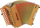 Sherwood Shire III D/G Melodeon, Cagnoni Reeds