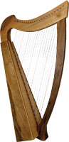 Glenluce FIDDLEWOOD 22 String Harp, 22 Levers