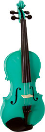 Blue Moon VG-105 Green Violin, Full Size