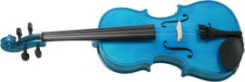 Blue Moon VG-105 Blue Violin, 3/4 Size