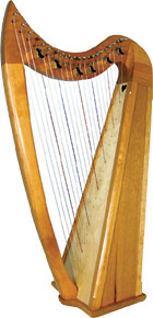 Stoney End Eve 22 string Harp, 6 Lever