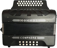 Hohner Compadre Melodeon 11V A/D/G in Black