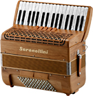 Serenellini Solo 72 Bass Accordion, Cherry