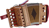 Serenellini Silvia Mini 1 1/2 row Melodeon in C