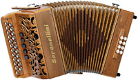 Serenellini Gold D/G Melodeon, 3 voice