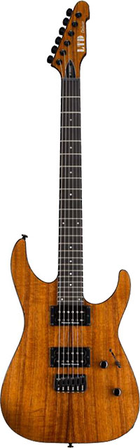 Ltd Electric Guitars M-1000HT Electric Guitar, Natural Gloss