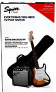 Squier Stratocaster Guitar Pack, Brown