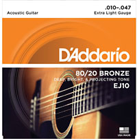 D'addario EJ10 Acoustic Guitar Strings