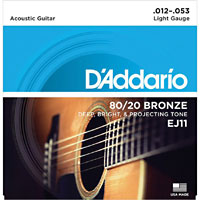 D'addario EJ11 Acoustic Guitar Strings