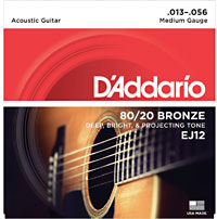 D'addario EJ12 Acoustic Guitar Strings
