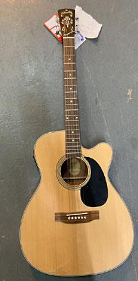 Blueridge BR-63CE 000 Guitar, Electro - Damaged
