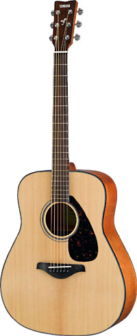 Yamaha FG800 Guitar, Dreadnought, Natural